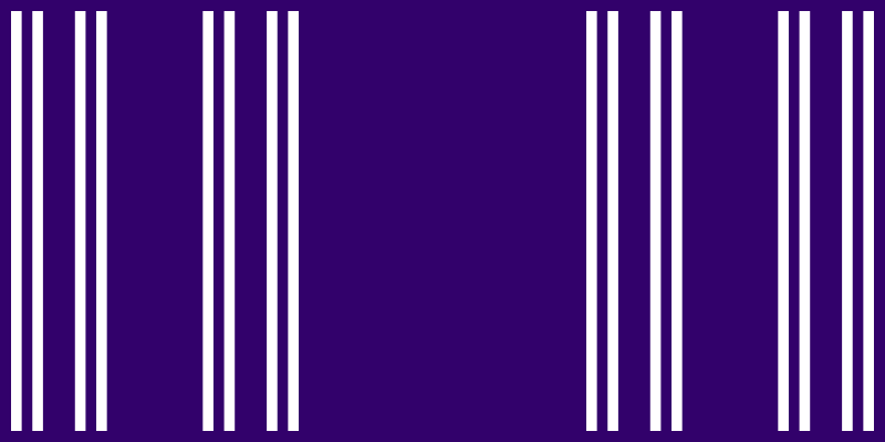 This example uses an additional option – barcode mode. This option draws only the last partition of the Cantor line at the 5th step of the iterations.