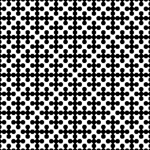 This example draws a 800x800px 5-th order Sierpinski curve using black and white colors only. Padding is disabled and curve's width is set to 1px.